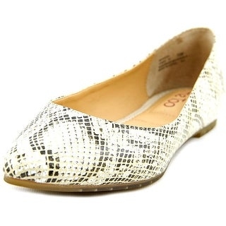 Me Too Aimee 10 Women Pointed Toe Leather Ivory Flats
