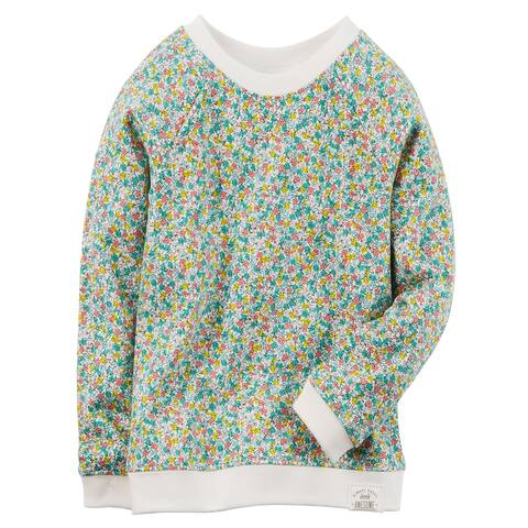 Carter's Baby Girls' Floral French Terry Pullover