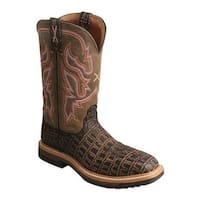 Twisted X Boots Women's WLCC001 Lite Cowgirl Composite Toe Work Boot Black Cayman Print/Bomber Leather