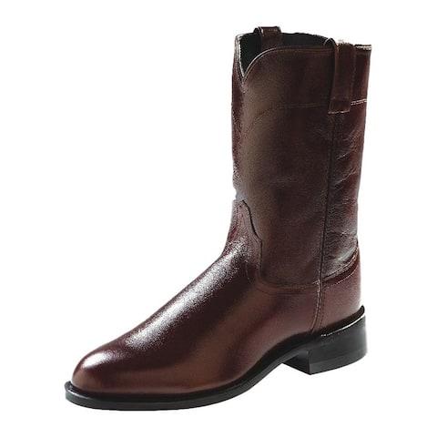 Old West Cowboy Boots Mens Corona Roper Neolite Antique Brown