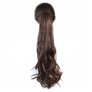 Wig Horsetail Fluffy Curled Tiger Claw Clip brown black 4#