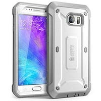 SUPCASE Samsung Galaxy S6 Case - Unicorn Beetle Pro - White/Gray
