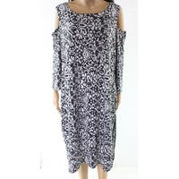 Claudia Ev Black Womens Size Small S Cold Shoulder Shift Dress