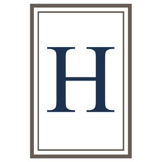 Monogram - Estate - Gray & Blue - H (Acrylic Serving Tray)
