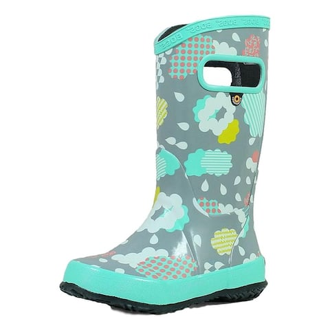 Bogs Outdoor Boots Girls Rainboot Clouds Pull On Waterproof