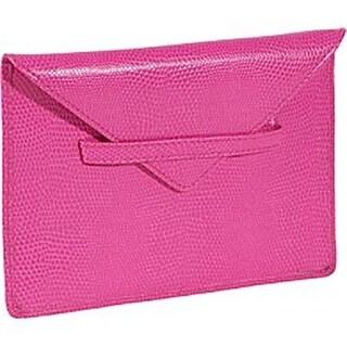 Budd Leather 552209L-25 Lizard Print 4 X 6 Inch Photo Envelope - Pink