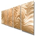Statements2000 Copper Modern Abstract 3D Metal Wall Art Panels by Jon Allen - Copper Hypnotic Sands - Thumbnail 8