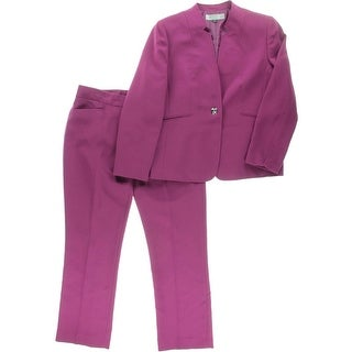 Tahari ASL Womens Petites Katie Long Sleeves 2PC Pant Suit