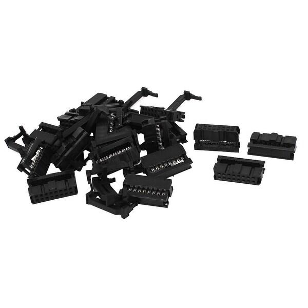 Unique Bargains 20Pcs FC-16P 16Pin 2.54mm Pitch ISP JTAG Socket Connector for Flat Ribbon Cable