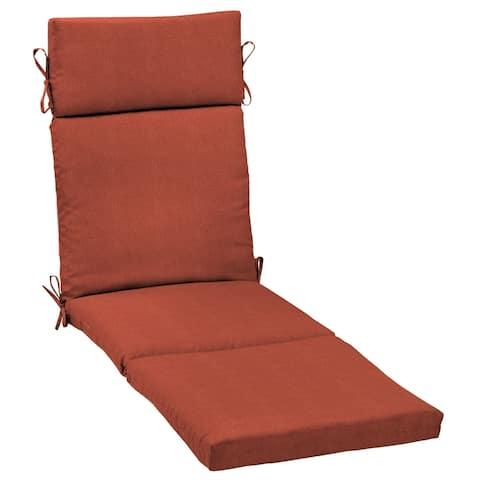 Arden Selections Sedona Woven Outdoor Chaise Lounge Cushion - 72 in L x 21 in W x 3 in H