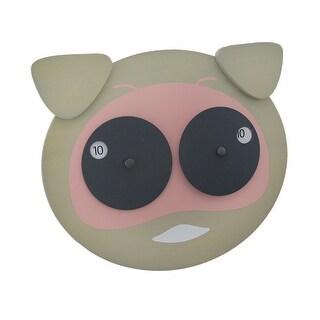 Hamlet the Googly Eyed Pig Wooden Wall Clock