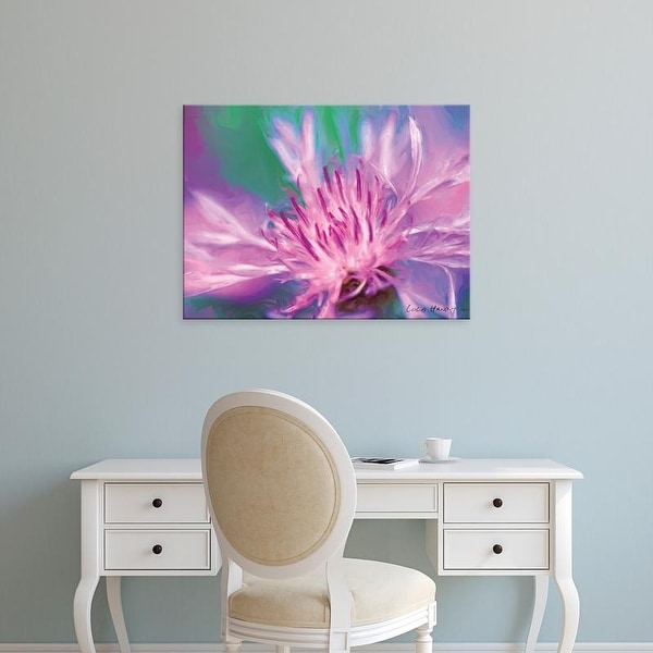Easy Art Prints Lola Henry's 'Painterly Flower VIII' Premium Canvas Art