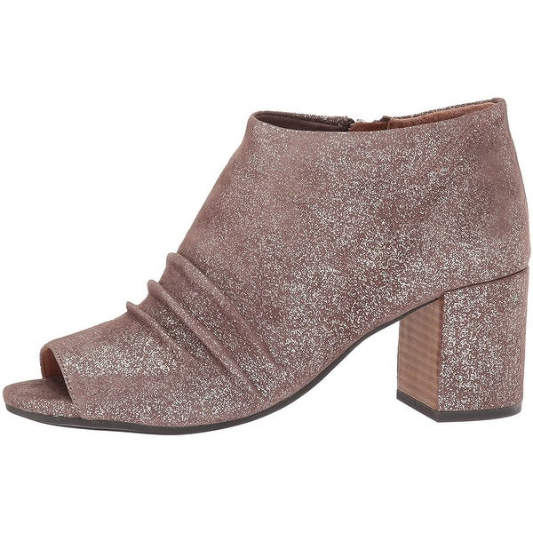 Gentle Souls Womens Camelia Leather Open Toe Ankle Fashion Boots - 8