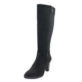 Anne Klein Sport Elek Women Round Toe Canvas Black Knee High Boot|https://ak1.ostkcdn.com/images/products/is/images/direct/3e20357770f558b81a2d24e8e74e1ca2e9b2a546/Anne-Klein-Sport-Elek-Round-Toe-Canvas-Knee-High-Boot.jpg?_ostk_perf_=percv&impolicy=medium