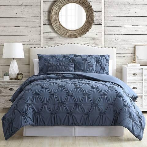 Modern Threads Alexis 5-Piece Solid Textured Comforter Set