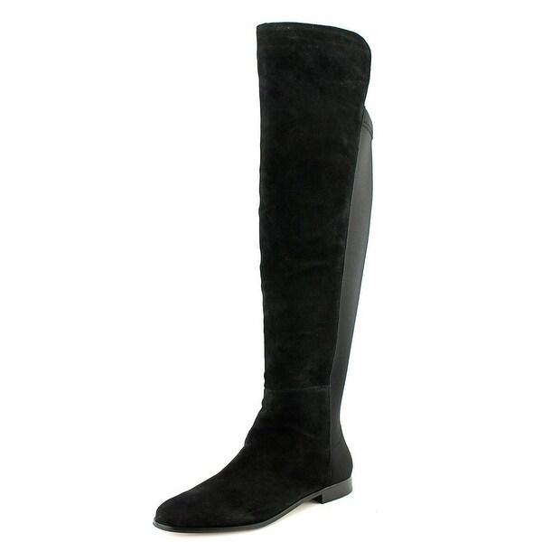 Corso Como Laura Women  Round Toe Suede Black Knee High Boot