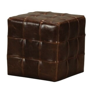 Sterling Industries 133-004 Leather Cube Ottoman