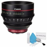 Canon CN-E 85mm T1.3 L F Cine Lens (International Model) + Deluxe Cleaning Kit Bundle (AF6CANCNE8513LFB1)