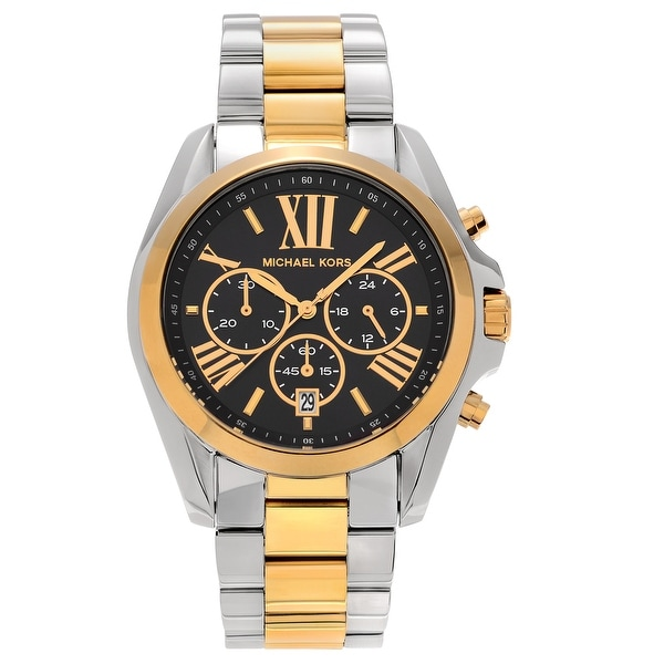 7f279a8255fe Shop Michael Kors Men s MK5976  Bradshaw  Two-tone Chronograph Roman ...