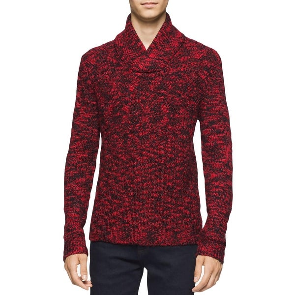 Shop Calvin Klein Mens Pullover Sweater Wool Blend Cable Knit - Free ...