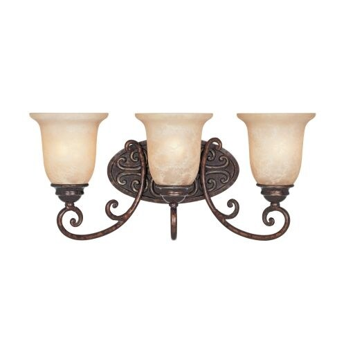"""Designers Fountain 97503 Three Light Down Lighting 22"""" Wide Bathroom Fixture from the Amherst Collection"""