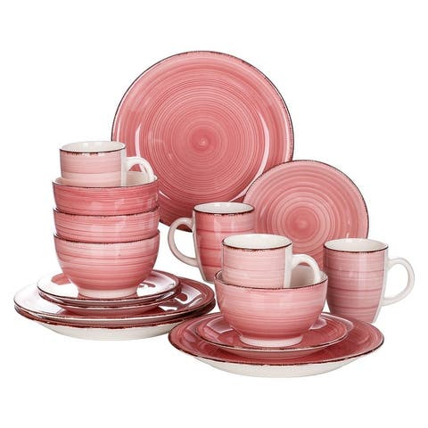 vancasso Bella 16-Piece Vintage Stoneware Dinnerware Set for 4