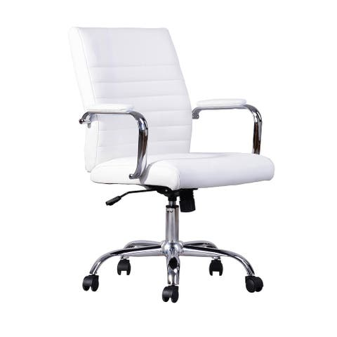 Furniture R Modern Faux Leather Office Chair