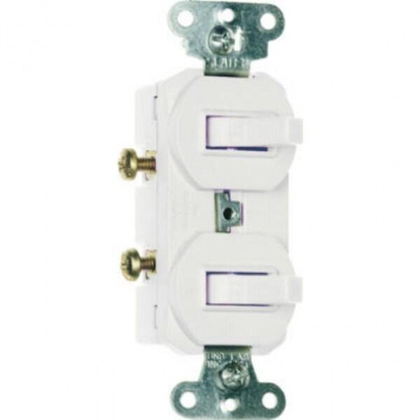 Pass & Seymour 2-Single Pole Switches, 15A, 120/277V, White