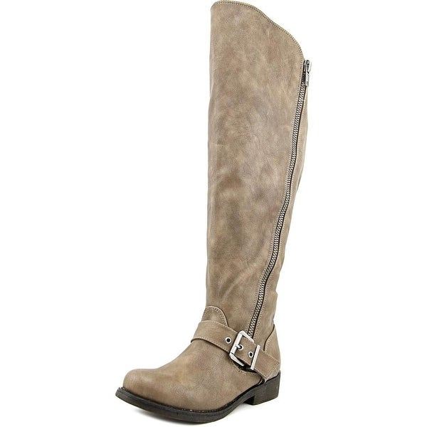 Carlos by Carlos Santana Gramercy Wide Calf Women Taupe Boots