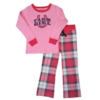 Farm Girl Western Sleepwear Girls Plaid Print Sleep 2 Pc Set F81067129
