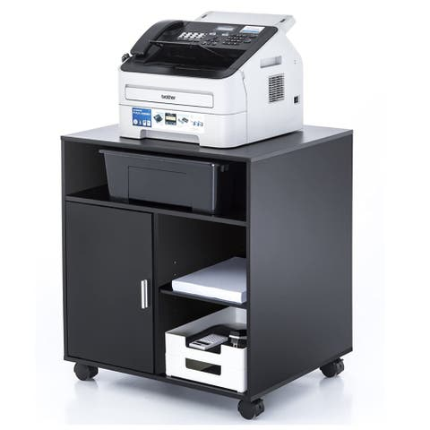 Printer Stand Office Cabinet File Cabinet with Wheels and Storage