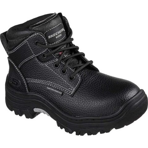 Skechers Women's Work Burgin Krabok Steel Toe Boot Black