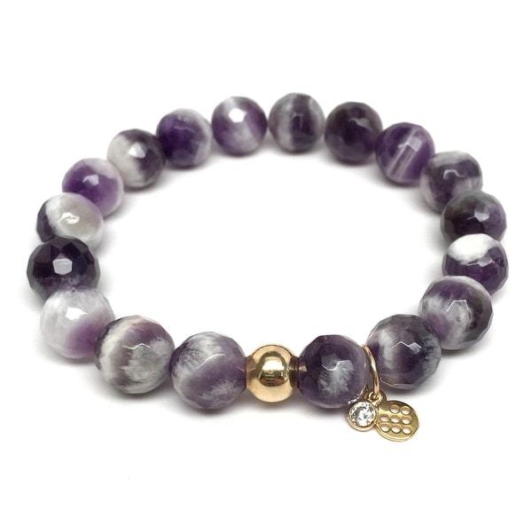 """Purple Amethyst Emma 7"""" Bracelet"""