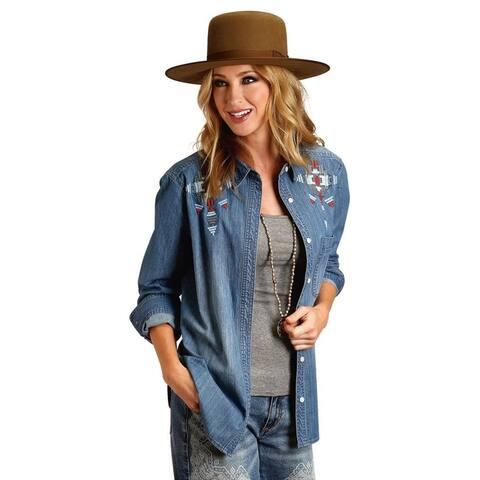 Stetson Western Shirt Womens Long Sleeve Denim