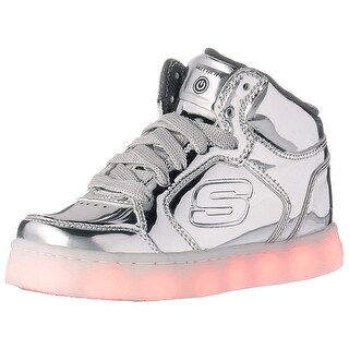Skechers Kids Energy Lights Eliptic Sneaker,3 M Us Little Kid,Silver