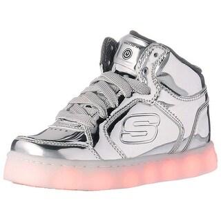 Skechers Kids Energy Lights Eliptic Sneaker,5 M Us Big Kid,Silver