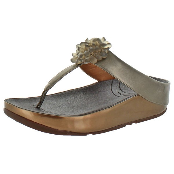 FitFlop Women's Blossom Leather Flip Flop Sandals