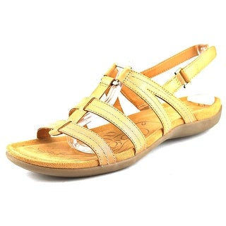 Naturalizer Every Women WW Open-Toe Leather Tan Slingback Sandal