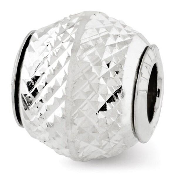 Italian Sterling Silver Reflections Diamond-cut Bead (4mm Diameter Hole)
