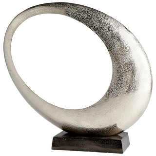 Cyan Design 08897  Clearly Through Aluminum Abstract Statue - Raw Nickel