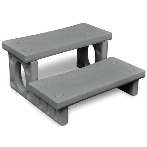 vidaXL Gray Spa Steps