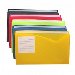 C-Line Products Write-On Expanding Poly File Folders - Letter,