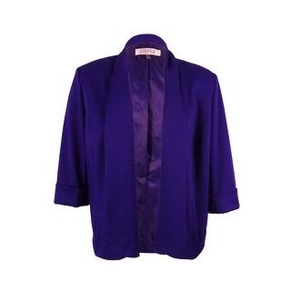 Kasper Women's Solid Open Front Jacket