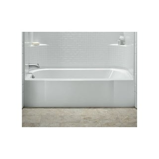 "Sterling 71141122 Accord 60"" x 30"" Soaking Bath with Right-hand Above Floor Drai - White"
