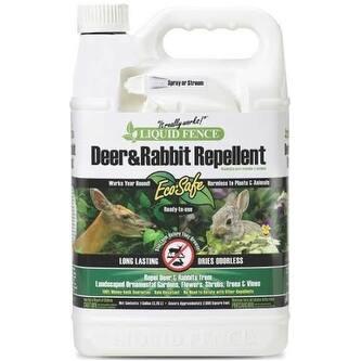 Liquid Fence HG-70109 Deer and Rabbit Repellent, 1 Gallon
