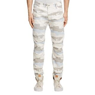 G-Star Raw 5622 3D Moto Slim Jeans 34x32 in White Scatter Snow Camouflage Camo