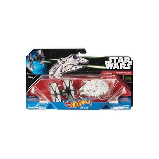 Hot Wheels Star Wars TIE Fighter vs. Millennium Falcon 2 Pack