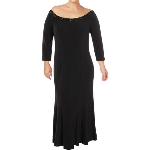 Alex Evenings Womens Special Occasion Dress Off The Shoulder Trumpet