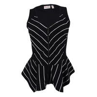 Marilyn Monroe Juniors' Sleeveless Striped Top - Print
