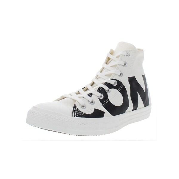6f53d74e2a7d Converse Mens Chuck Taylor All Star Hi High Top Sneakers Canvas Skate - 10  Medium (